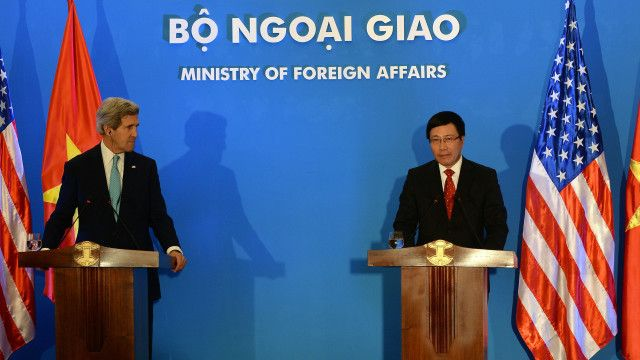 Ngoại trưởng Kerry đã từng có những tuyên bố mạnh về lập trường của Hoa Kỳ tại Biển Đông.