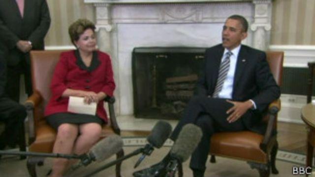 Dilma Rousseff e Barack Obama (foto: BBC)