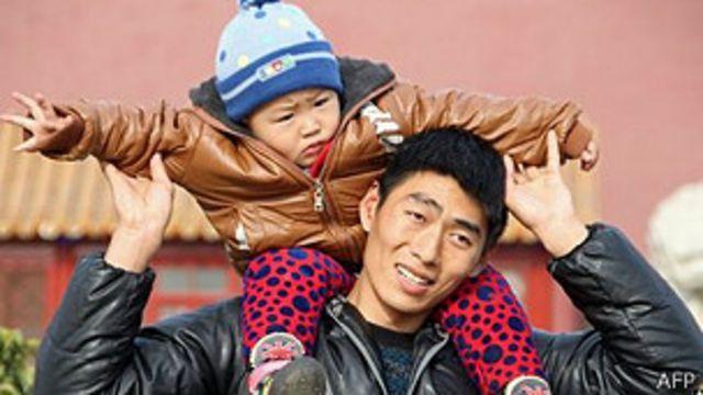 Padre chino con su hijo