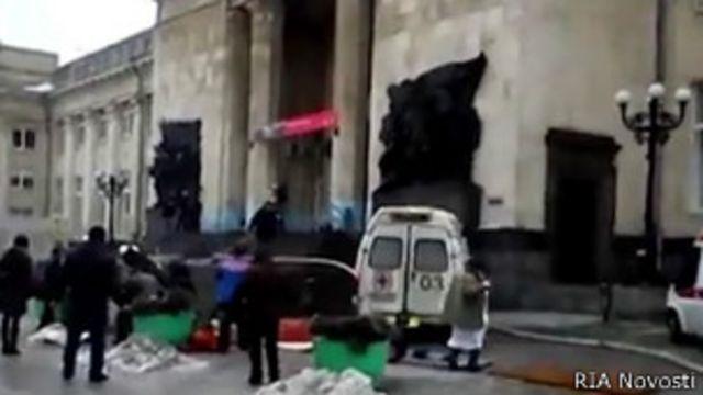 Место взрыва в Волгограде