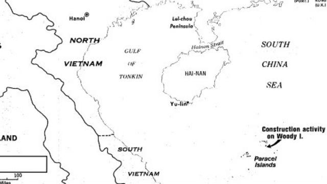 Bản đồ Hoàng Sa của Hoa Kỳ ghi nhận hoạt động xây cất từ phía TQ