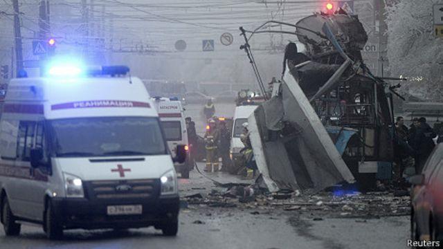Волгоградский взорванный троллейбус