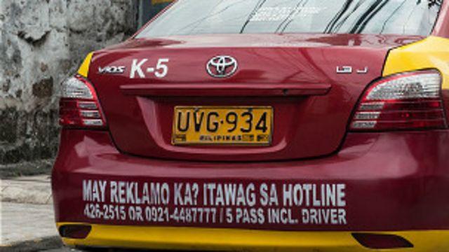 Taxi en Filipinas