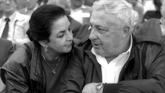 Ariel Sharon mu nama nkuru y'ishyaka rya Herut muri 1986
