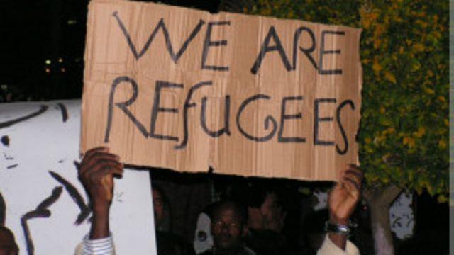 Manifestation de migrants africains