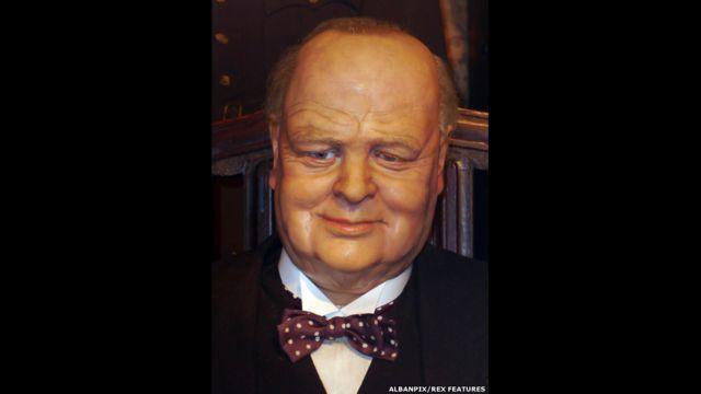 Figura de cera de Winston Churchill, Museo Casa de la Cera Louis Tussauds, Great Yarmouth, Inglaterra