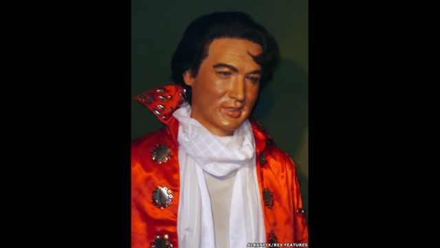 Figura de cera de Elvis Presley, Museo Casa de la Cera Louis Tussauds, Great Yarmouth, Inglaterra