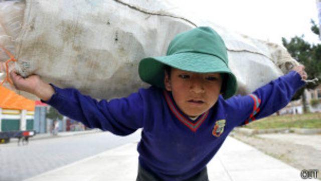 Trabajo infantil en Bolivia (Foto: OIT)