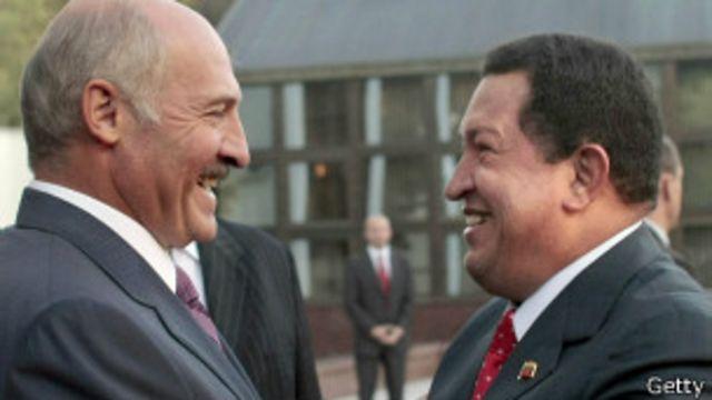 Chávez y Lukashenko