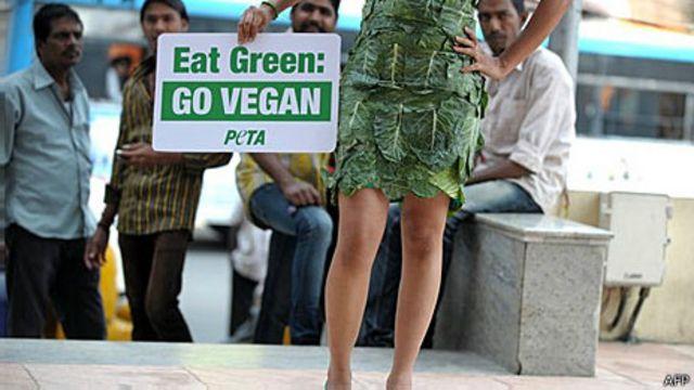 Campanha da PETA (AFP)
