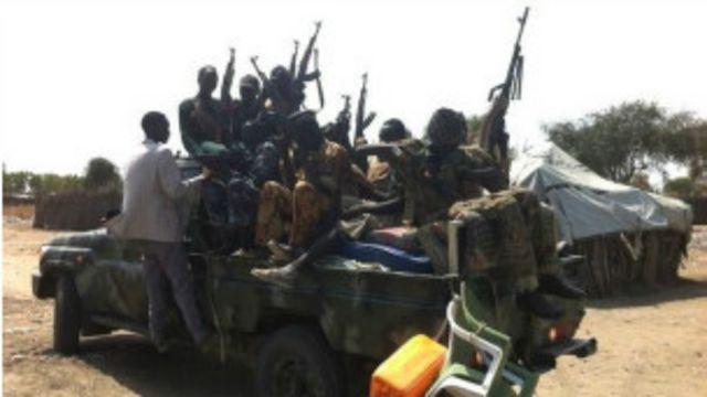 Des combattants sud-soudanais
