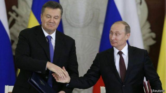 Presidentes de Rusia y Ucrania (foto de archivo)