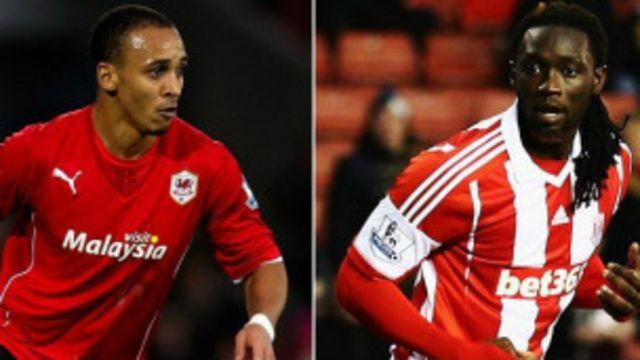 Odemwingie ya koma Stoke a yayinda Kenwyne Jones ya koma Cardiff