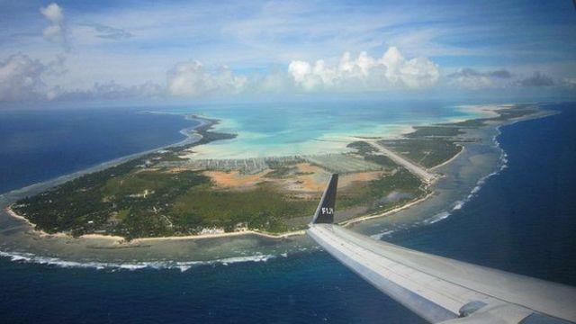 Vista aérea de Kiribati