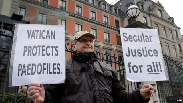 Protesta contra el Vaticano