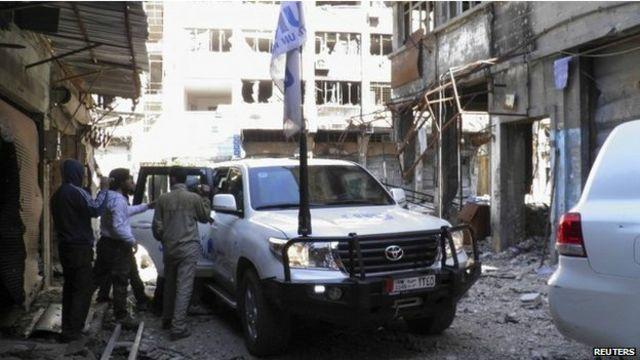 بعض أجزاء حمص قٌطعت صلاته بالعالم لشهور عدة.