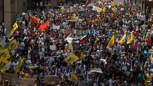 Студенческий марш в Каракасе
