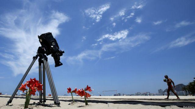 Homenagem feita ao cinegrafista Santiago Andrade (foto: Reuters)