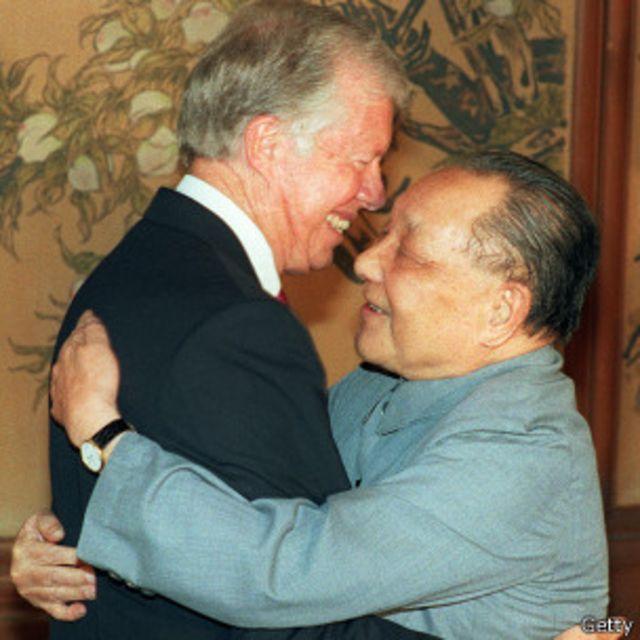 Đặng Tiểu Bình gặp lại Jimmy Carter năm 1987 nhưng từ 1978-79 trước đó, Bắc Kinh đã có quan hệ thắm thiết với Washington