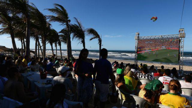 Fan fest em Fortaleza, na Copa das Confederações, em 2013 (Getty)