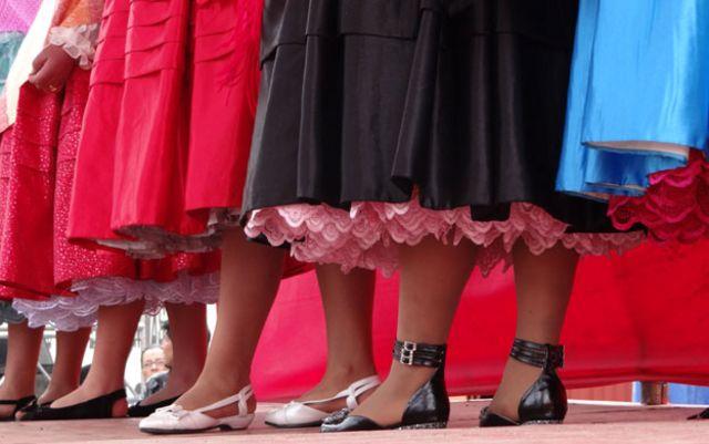 Desfile de moda chola