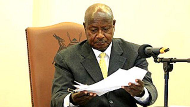 Le Président Y. Museveni