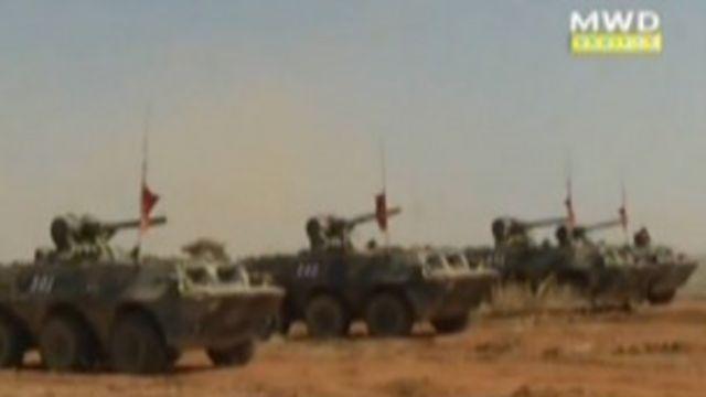 မြဝတီ ရုပ်မြင်သံကြားမှာ ပြသွားတဲ့ စစ်ရေးလေ့ကျင့်ခန်း