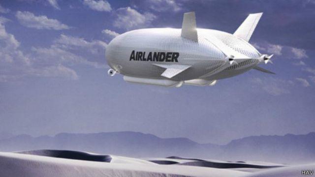 Imagem 3D do Airlander (HAV)