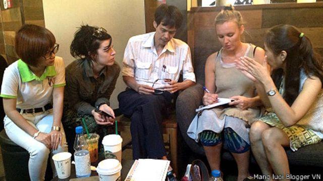 Cà phê nhân quyền hôm 01/3/2014 tại Sài Gòn