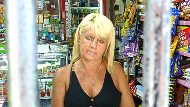 Silvia Siage en su negocio en Montevideo