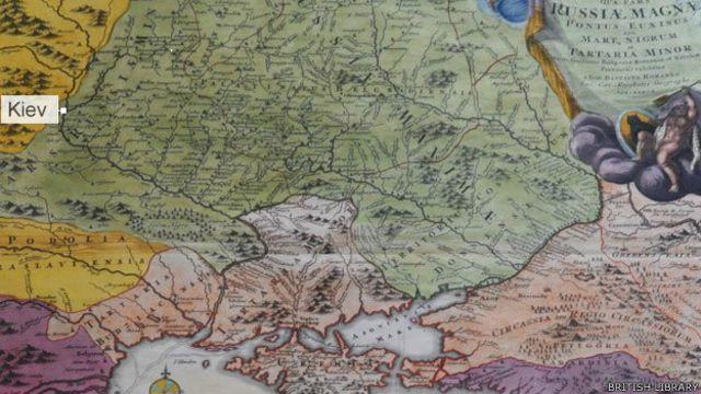 Mapa del siglo XVIII