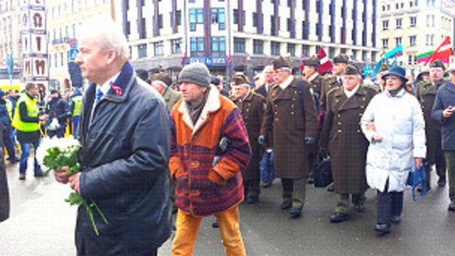Марш в Риге