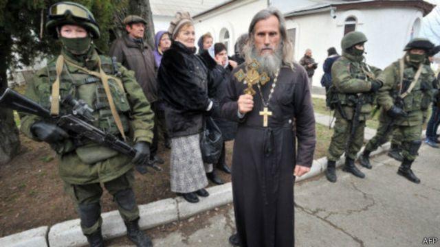 Православные священники и прихожане - активные участники крымских событий