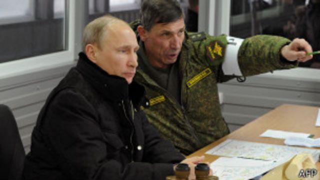 Putin con uno de sus generales
