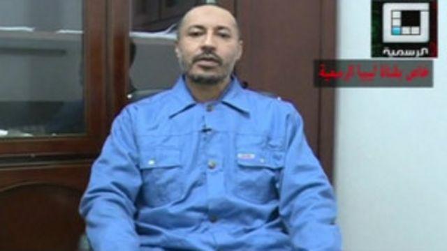 Saadi Kadhafi, dans la vidéo diffusée par les services pénitentiaires libyens