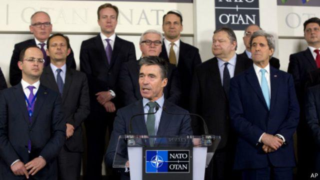 На встрече министров иностранных дел НАТО в Брюсселе