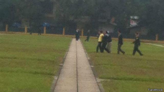Nhóm ông Kiên bị bắt giữ hôm 3/2 (ảnh lấy từ mạng xã hội Facebook)