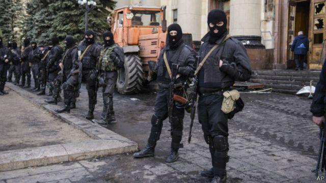 Спецподразделения украинской милиции в Харькове