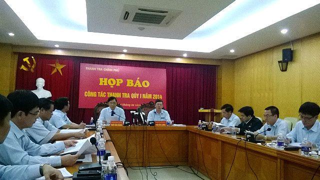 Một cuộc họp báo của Thanh tra Chính phủ Việt Nam