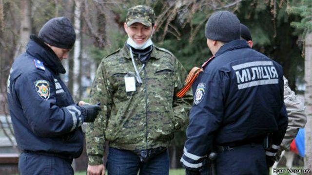 Протестующие в Донецке