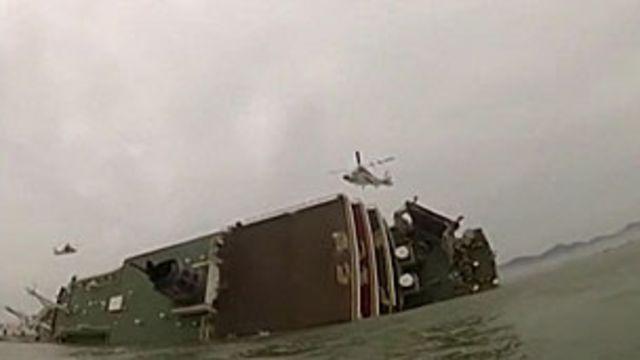 Balsa lotada afundou rapidamente na costa sul da Coreia do Sul (BBC)