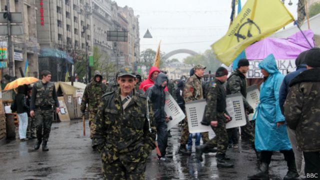 Майдан под дождем