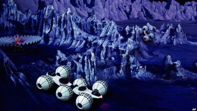 El pabellón Futurama II también mostraba los vehículos que se utilizarían en Marte, no muy diferentes a la sonda Curiosity.