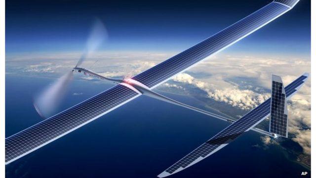 Google y Facebook squieren extender acceso a internet con aviones no tripulados y globos.
