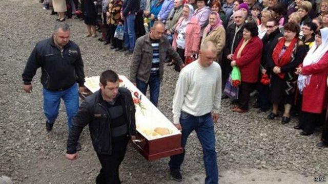 Похороны в Славянске