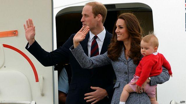 William, Kate y George