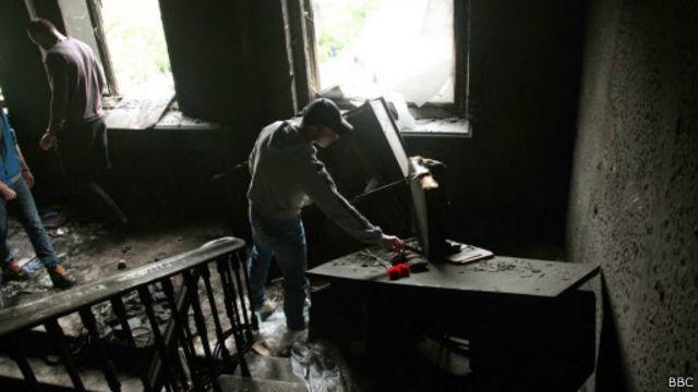 В сгоревшем Доме профсоюзов в Одессе
