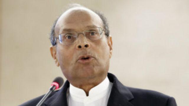 Moncef Marzouki, président de la Tunisie