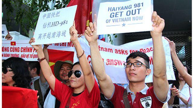 Biểu tình phản đối giàn khoan 981 ở Sài Gòn