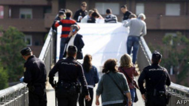 Policías en León